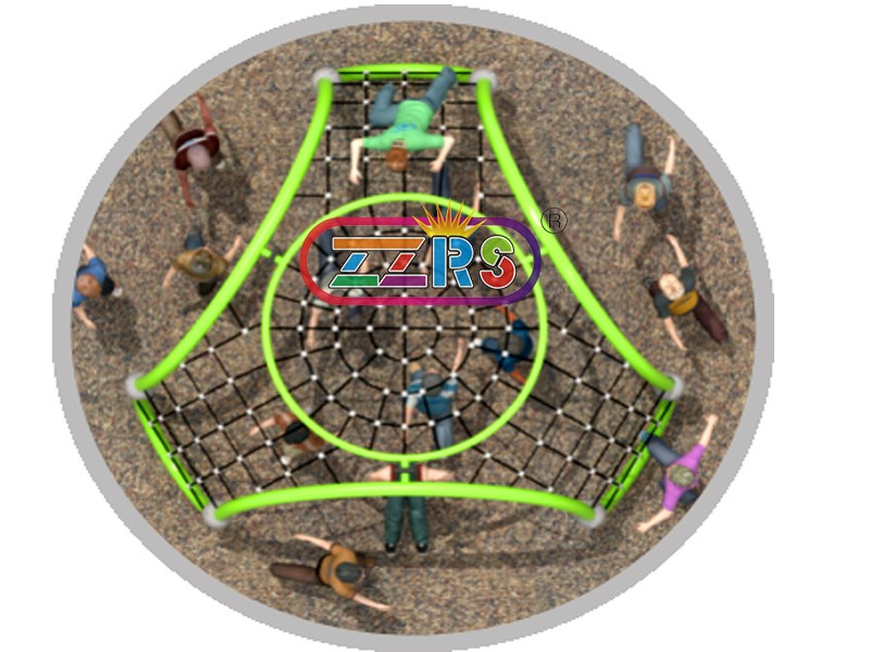 <b>F158-1 <br>400*400*180cm <br>  Kids Outdoor Physical Fitness Rope Course