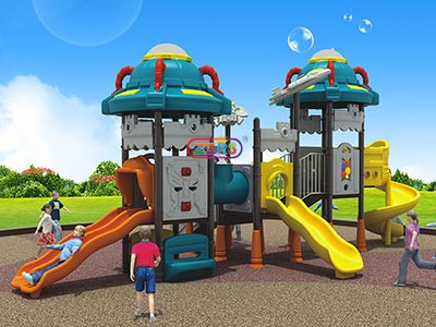 <b> F065-2 <br> 860*480*580cm <br> Playground With Double Slide