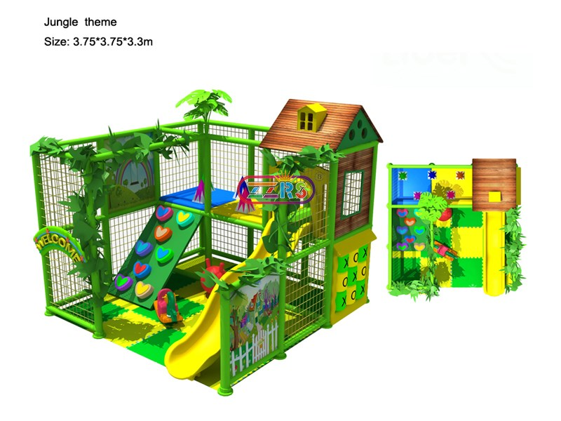 3.75*3.75*3.00m <br> Jungle Theme Indoor Playground For Kids